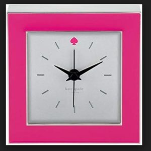kate spade crosse pointe pink clock nwt